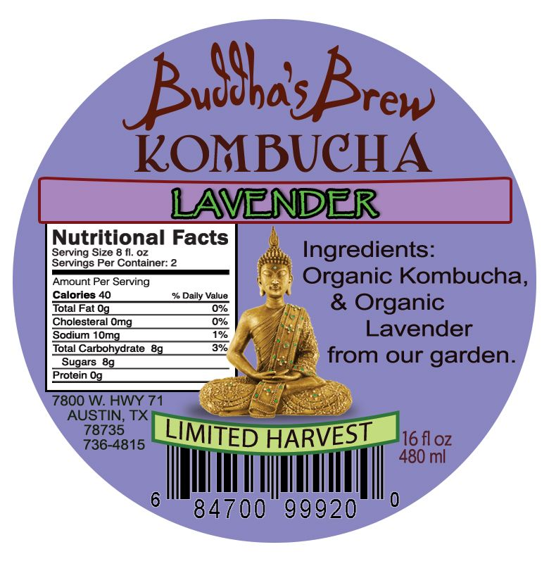 We bottled a tiny amount of our Kombucha brewed with Lavender from our Brewery Garden. This was the 2nd flavor of our Limited Harvest Mason Jar series.