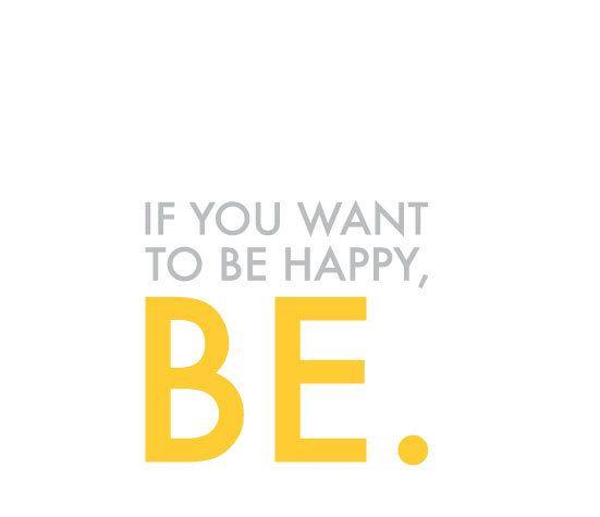 Be Happy,  Digital Printable Art, by typographics,