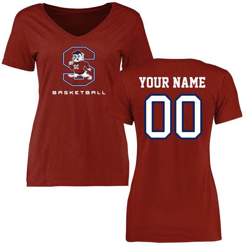 South Carolina State Bulldogs Fanatics Branded Women's Personalized Basketball T-Shirt - Cardinal