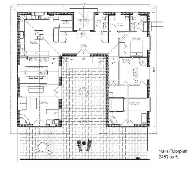 lovely hacienda house plans with courtyard #6: Steal the latest Nice Hacienda Style House Plans Hacienda House Plans With Courtyard  design ideas from Virginia Coleman to decorate your dwelling.