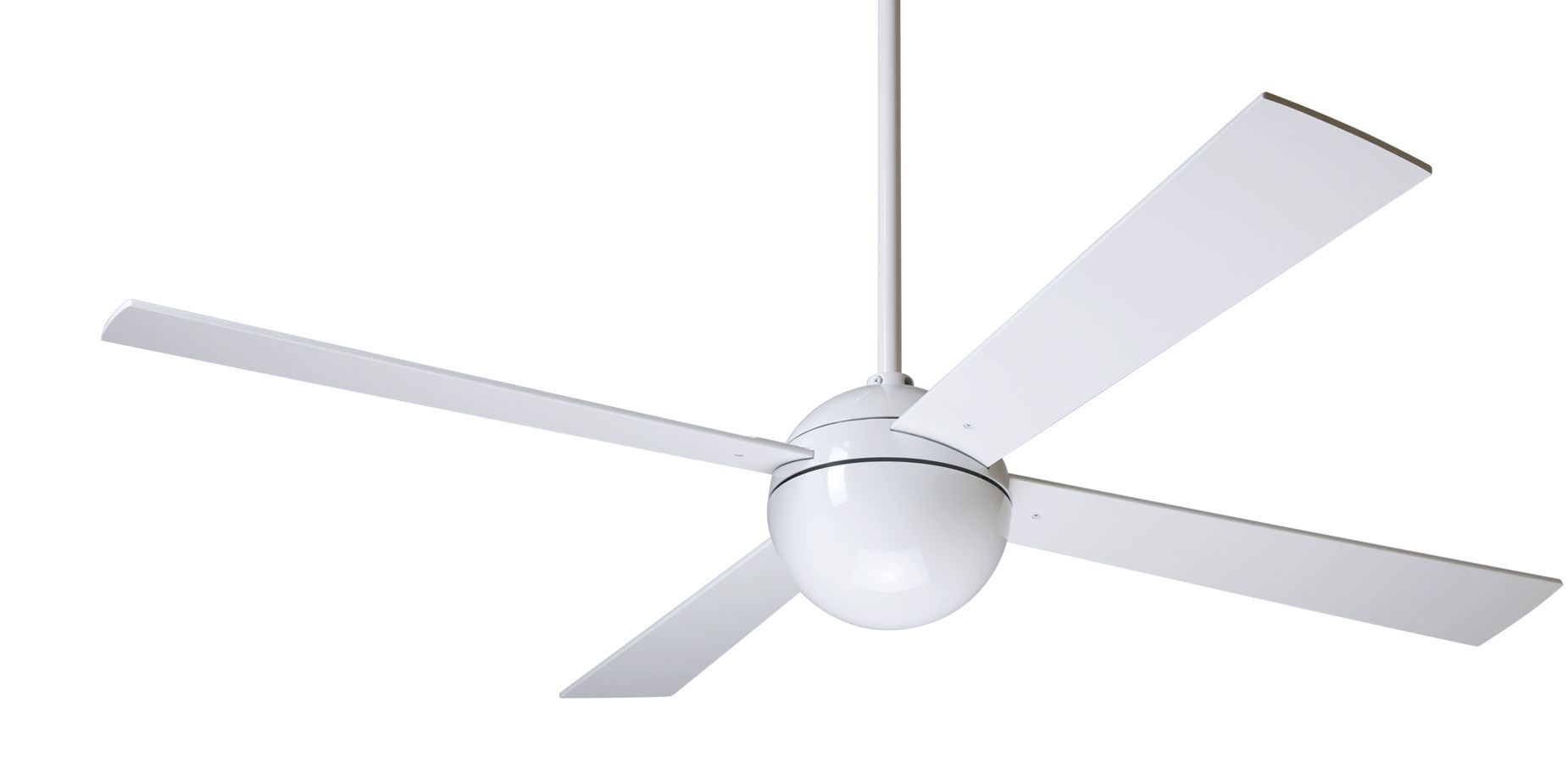 Modern Fan Ball Gloss White Brushed Aluminum 52 Modern Fan Ceiling Fan Custom Blades