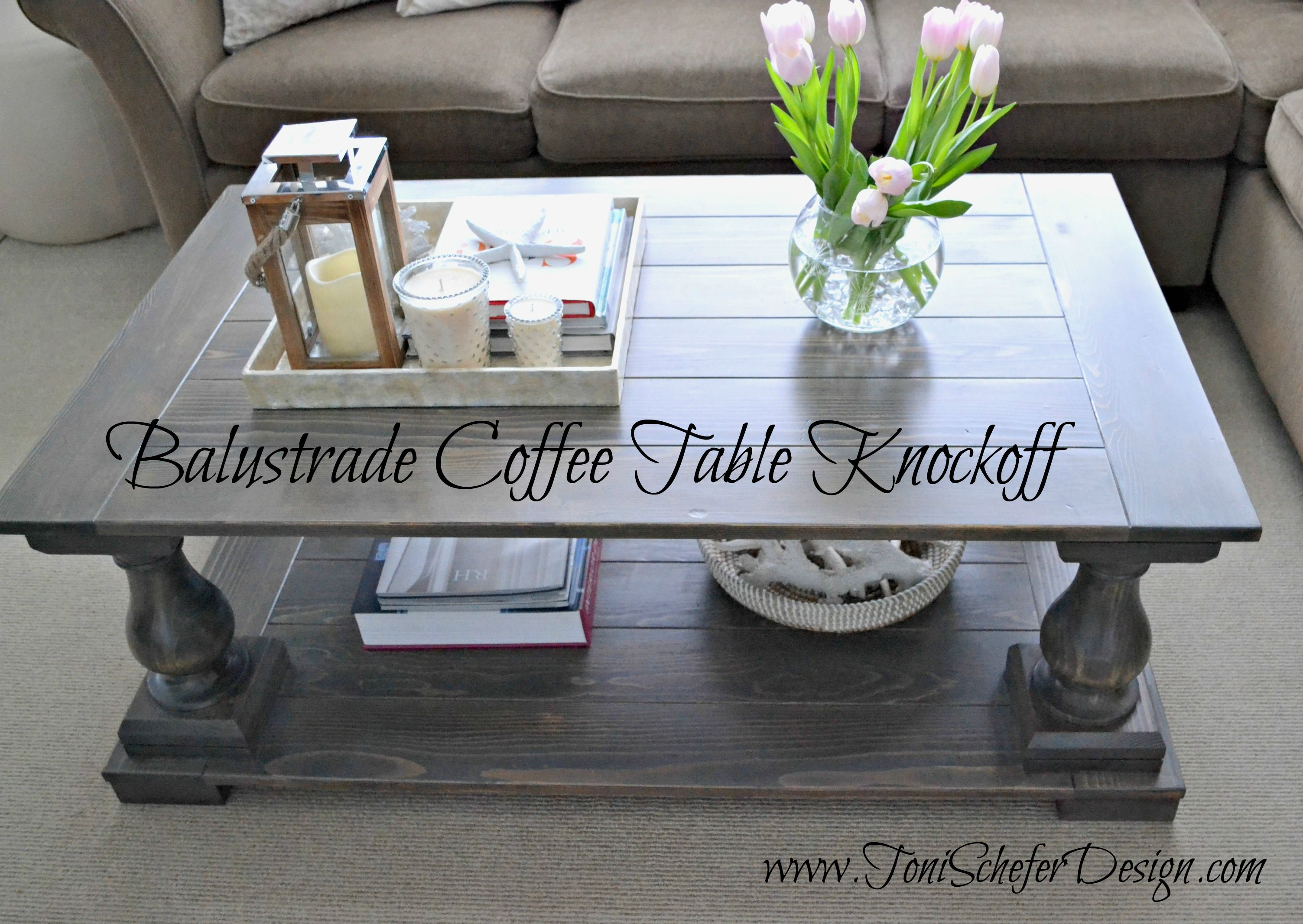 Restoration Hardware Knockoff Balustrade Coffee Table Minwax dark