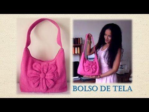 Como hacer un bolso de tela tutorial de sandra padilla - Bolsos para hacer ...