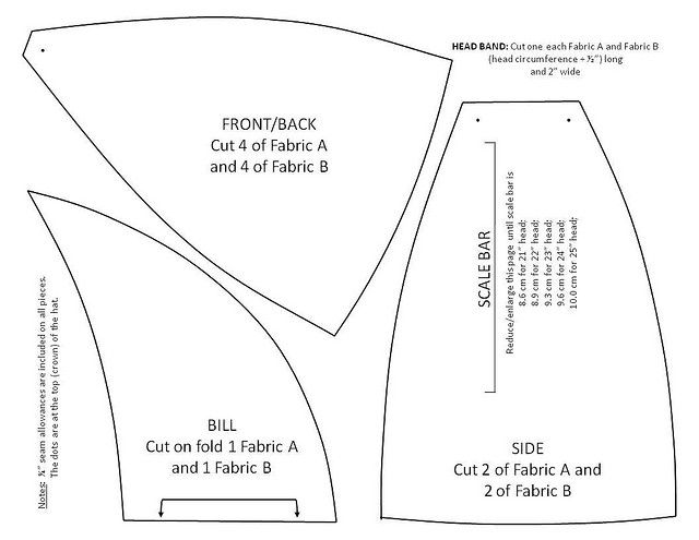 Pattern for a reversible welding hat | Patrones y Ropa