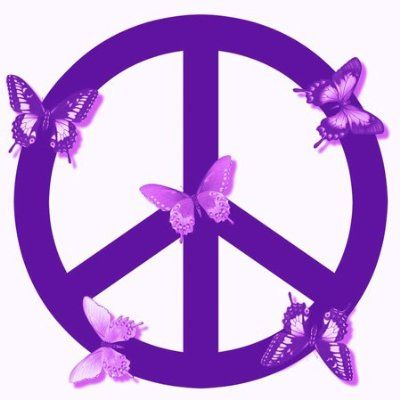Purple with butterflies | Perfect peace, Peace, love, Peace