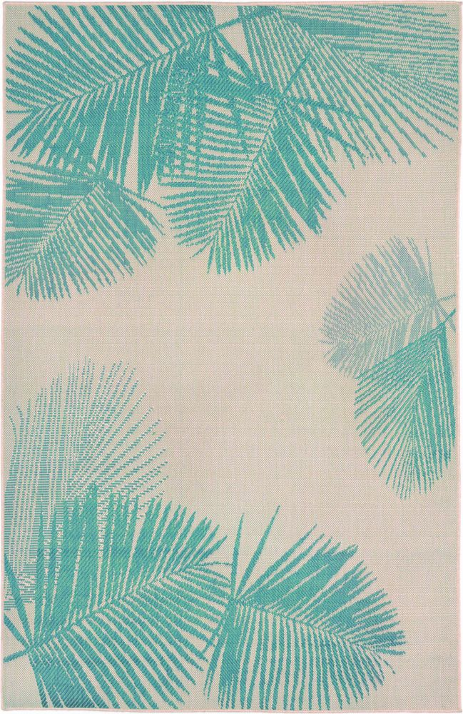 8x10 7 10 Quot X 9 10 Quot Tropical Coastal Palm Aqua Indoor