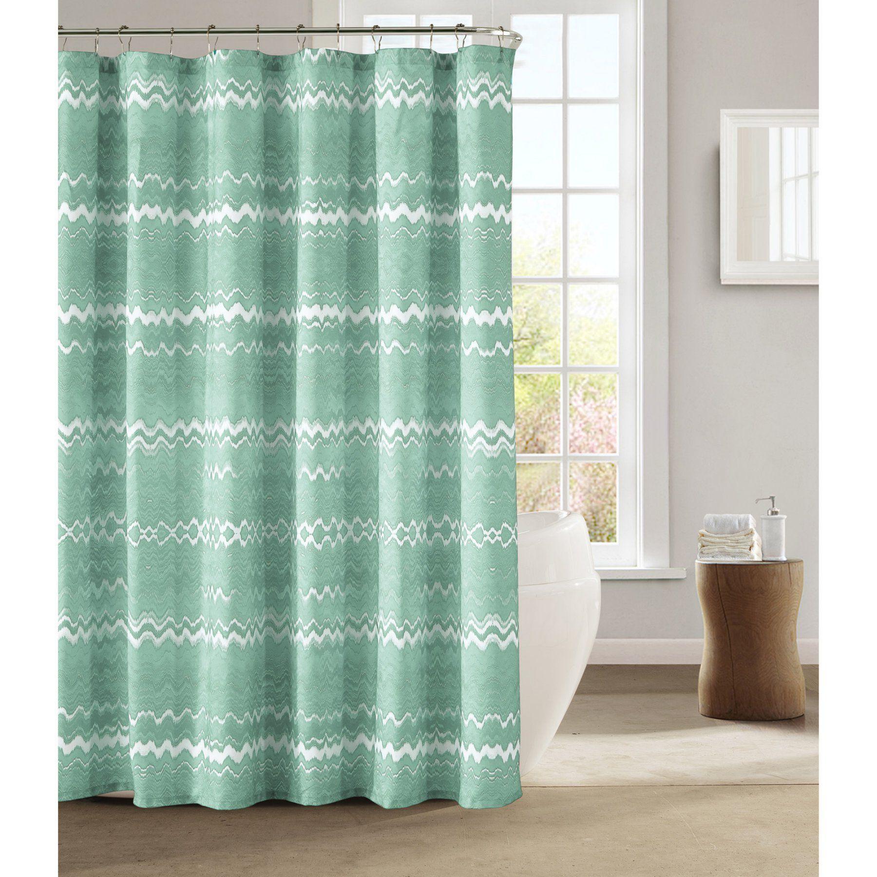 Kensie Mikaela Satin Microfiber Fabric Shower Curtain Misgg 12