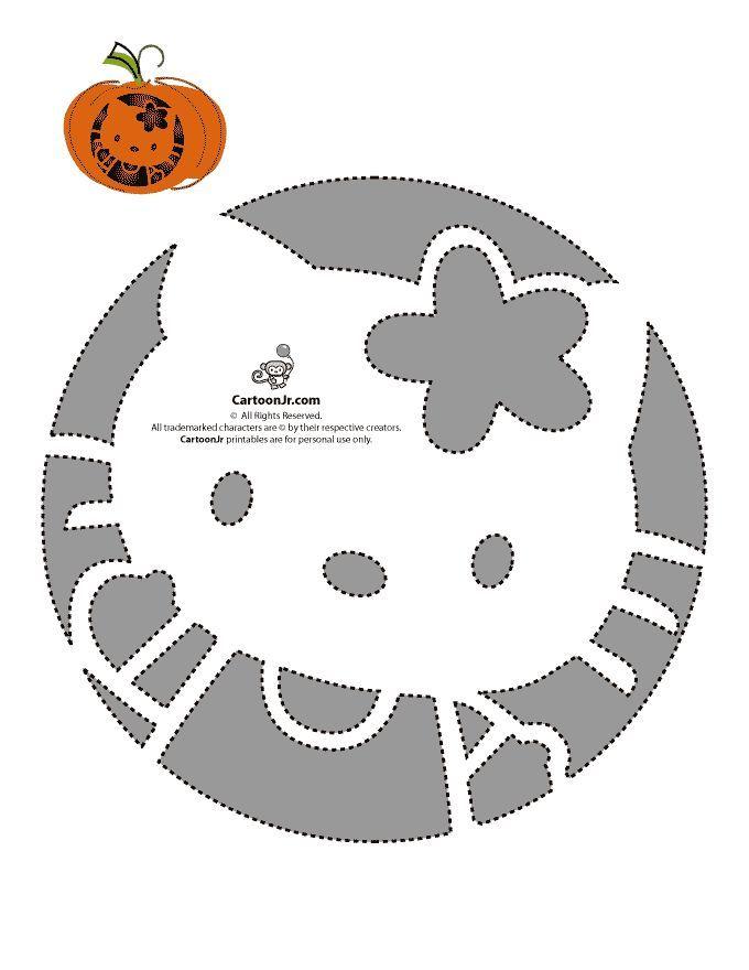 hello kitty pumpkin stencils hello kitty round pumpkin stencil