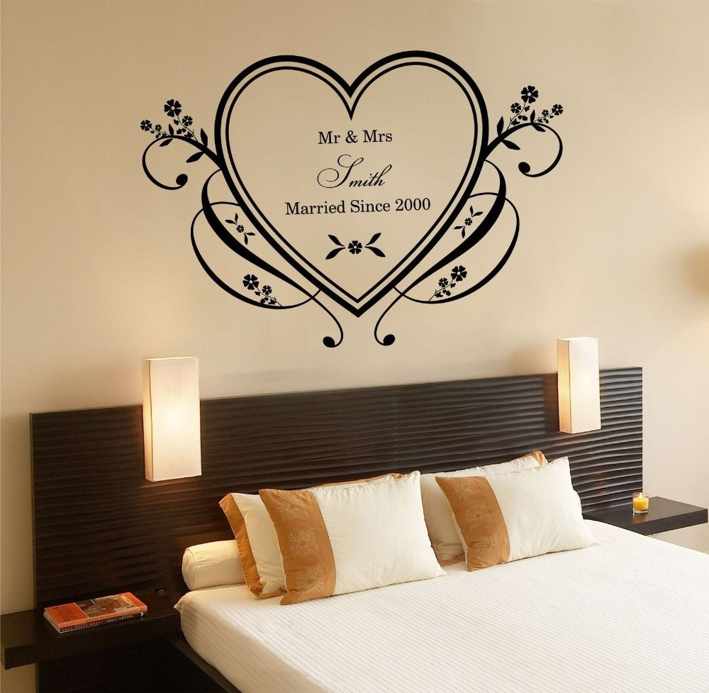Bedroom Art Amazon Diy Romantic Bedroom Decorating Ideas Universal Furniture Bedroom Sets Bedroom Interior With Cupboard: Home Love Heart Wall Sticker Bedroom Romantic Decor