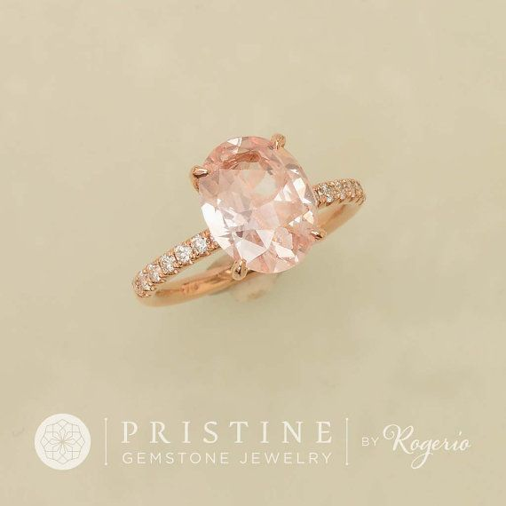 Champagne pink peach sapphire over 3cts engagement ring rose gold champagne pink peach sapphire over 3cts engagement ring rose gold diamond accented ring blake lively engagement junglespirit Images
