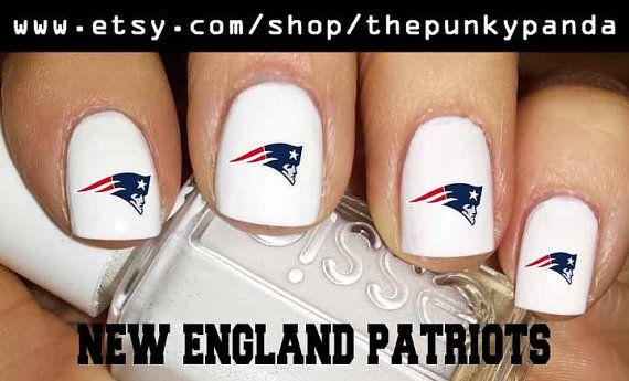 Buy 2 Get 1 Free NEW ENGLAND Patriots Logo Nail Decals   ME PATRIOTS ...