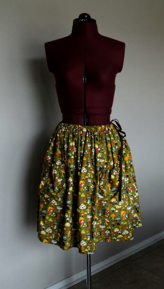 Earth Bound Mushroom Skirt by tintiara on Etsy, $70.00