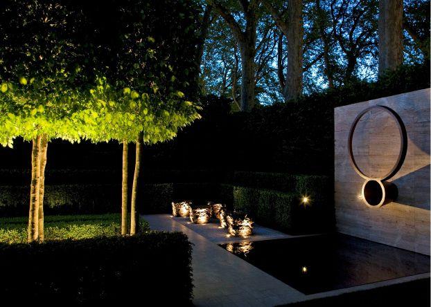 Dramatic Lighting Luciano Giubbilei Chelsea Flower Show Landscape Lighting Design Garden Night Lighting Landscape Lighting