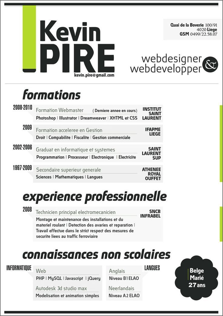 10 simple resume format with pops of color responsive html5 - professional resume templates word 2010