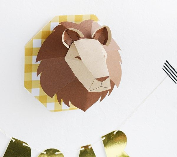 This 3D Lion head is perfect decor for any room in your home! The