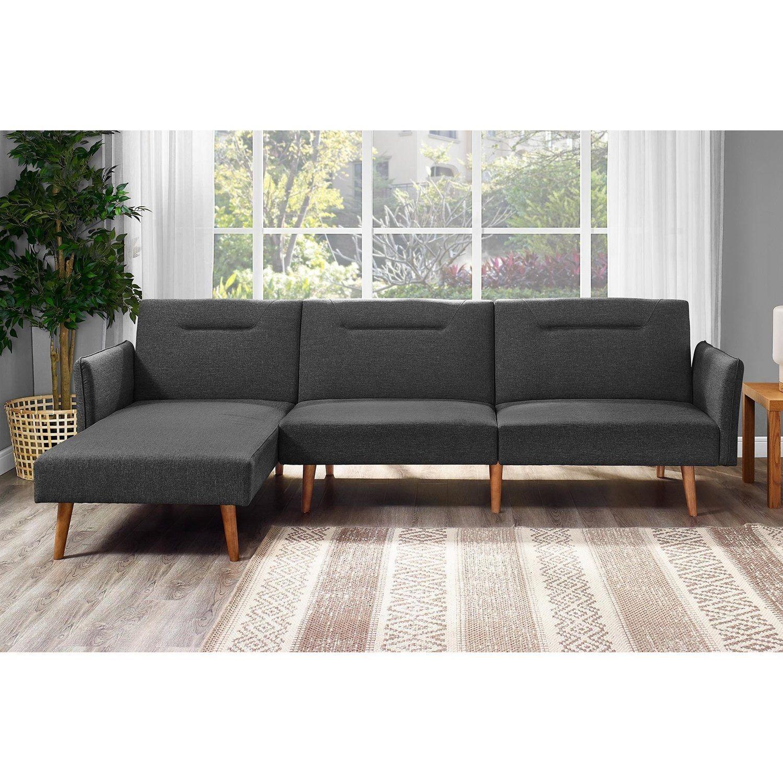 Langley Street Fresno Sleeper Sectional Sofa Bed Grey Amazon