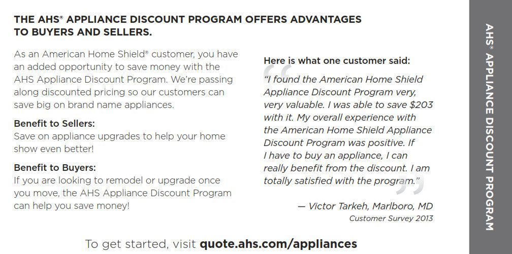 Ahs Customers Get Appliance Discount Check It Out Homewarranty Home Warranty Home Shield Home Ownership