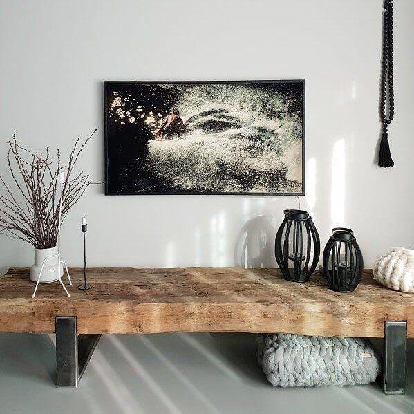 TV-Möbel Sideboard Lowboard aus alten Bahnschwellen - daslandhus.de #houseinteriorrustic