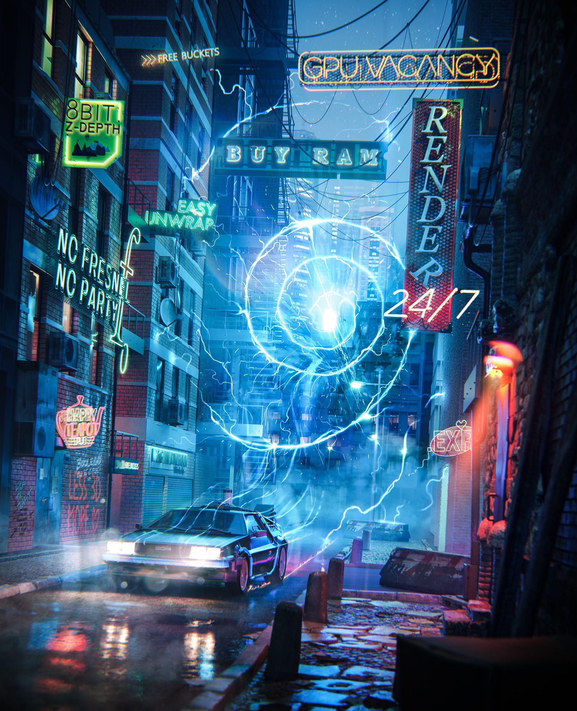 Back To The Future Of Archviz On Behance Nice Work De Volta Ao