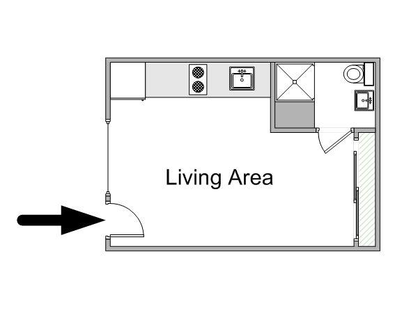 Small Studio Apartment Floor Plans   Paris Apartment ...