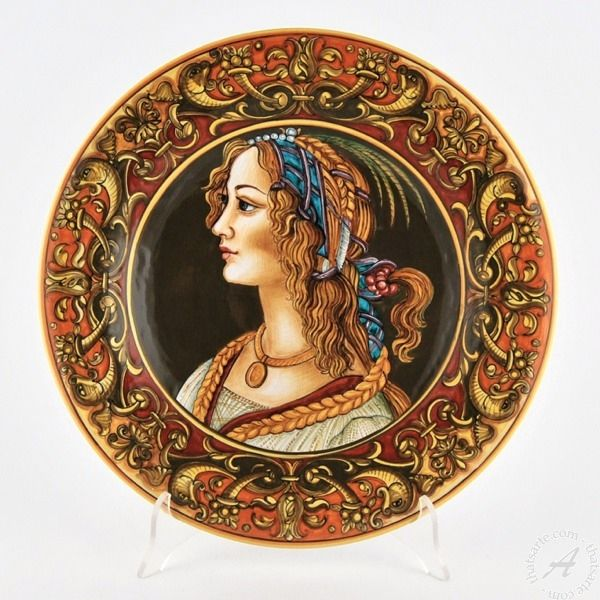 Italian Ceramic Wall Plate Portrait F. Niccacci - Deruta | thatsArte.com  sc 1 st  Pinterest & Wall plate