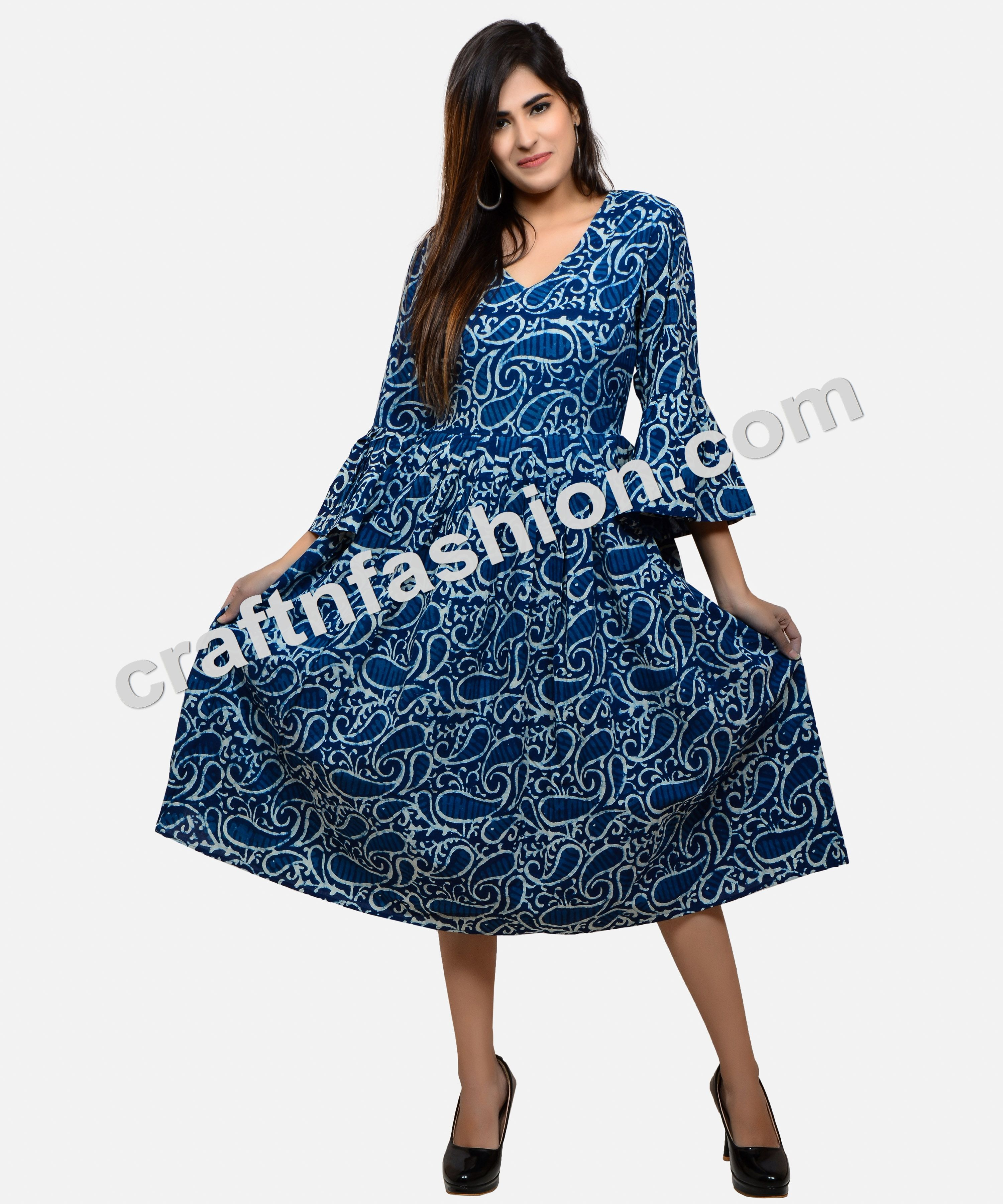 Indian Summer Fashion Wear Designer Kurti Designerdresses Indigodress Summerwear Umbrellasleeves Urban Style Dress Indian Summer Fashion Beachwear Fashion [ 3600 x 3000 Pixel ]