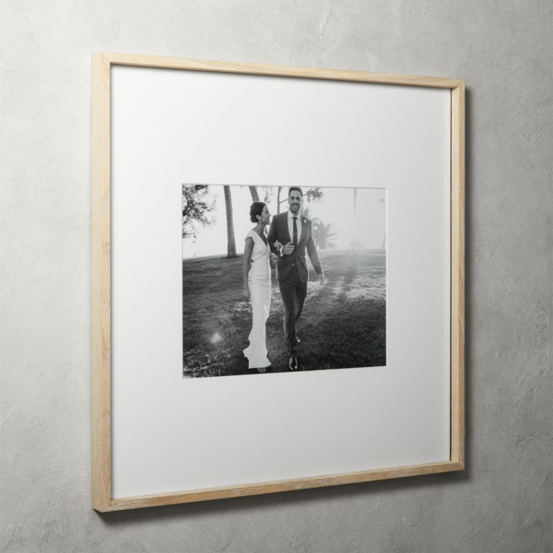 Shop Gallery Oak Picture Frames With White Mat 11x14 Exhibit Your Favorite Photos And Images Gall Oak Picture Frames Picture Frame Gallery Gallery Wall Frames