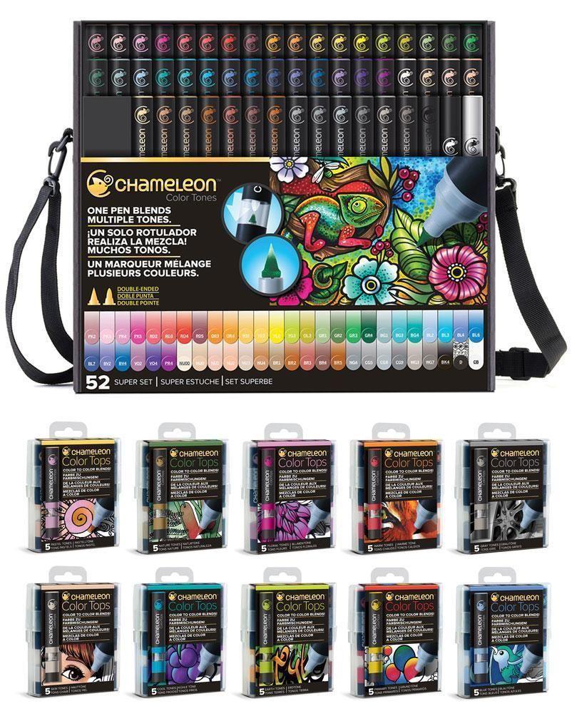 CHAMELEON 52 Colour Tones Permanent Alcohol Ink Pens System Changing Gradient