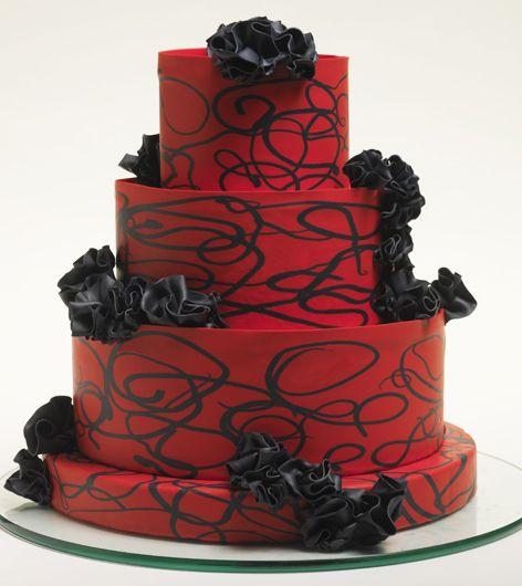 Red And Black Wedding Cakes Ideas: Cake, Black Wedding Cakes