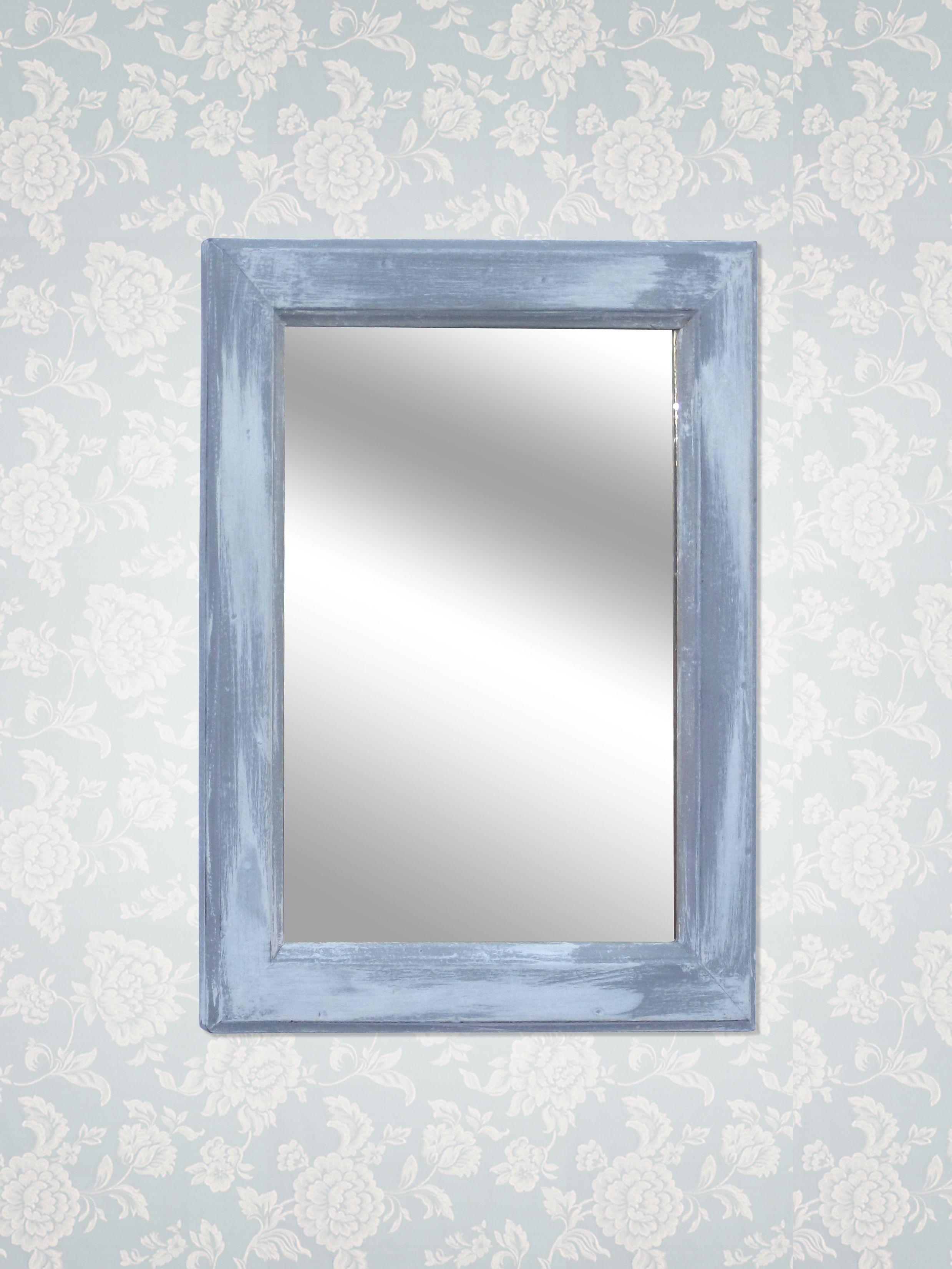 Cornici Colorate Per Foto specchio con cornice colorata dipinto con colori annie sloan