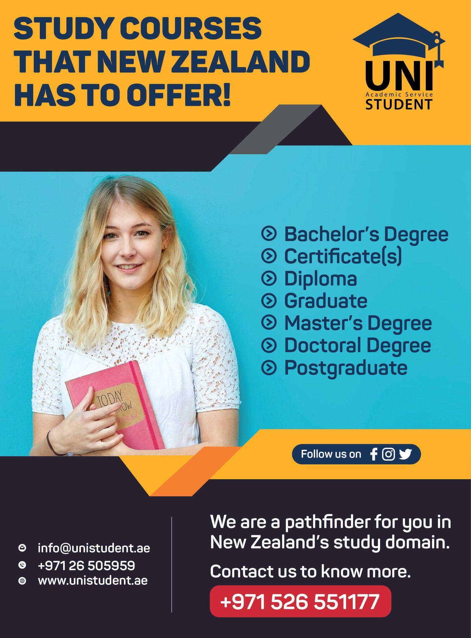 Study in Zewzealand Academic services, Overseas
