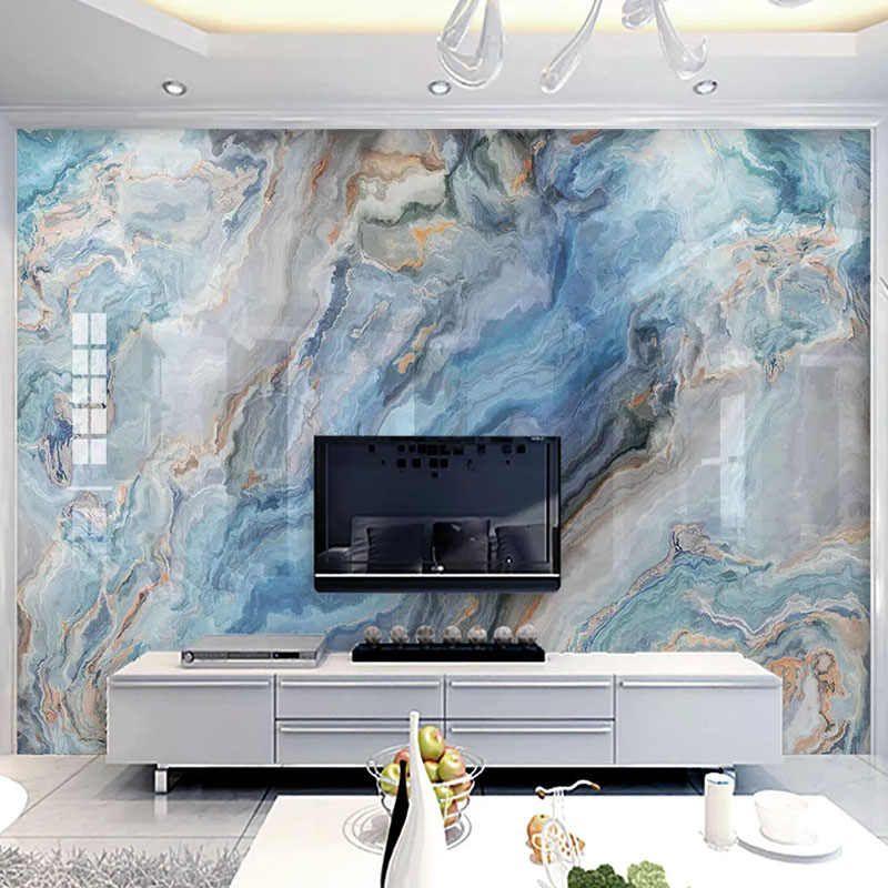 Photo Wallpaper Modern Blue Marble Landscape Art Murals Living Room Tv Background Wall Decor Self Adhesive Waterproof 3d Sticker Aliexpress In 2020 Marble Wallpaper Bedroom Wall Painting Living Room Custom Photo Wallpaper