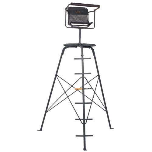 Deer Hunting Tripod Ladder Stand 10 Foot Seat Blind Wild Game Shooting Swivel Ladder Stands Tripod Deer Stand Blinds
