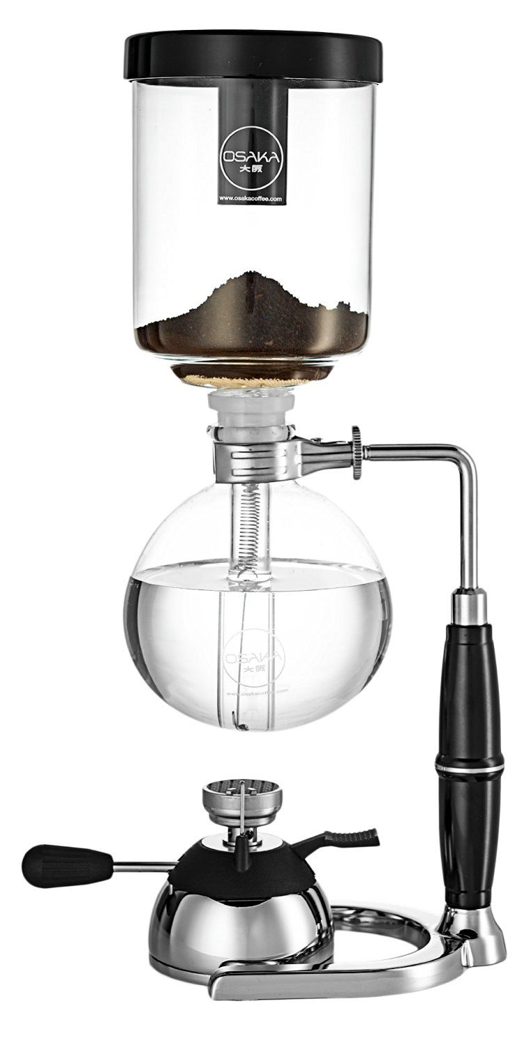 Osaka 4 Cup 20oz 600ml Siphon Coffee Maker Borosicilate Glass And Stainless Steel Vacuum Coffeemaker Skytre Siphon Coffee Vacuum Coffee Vacuum Coffee Maker