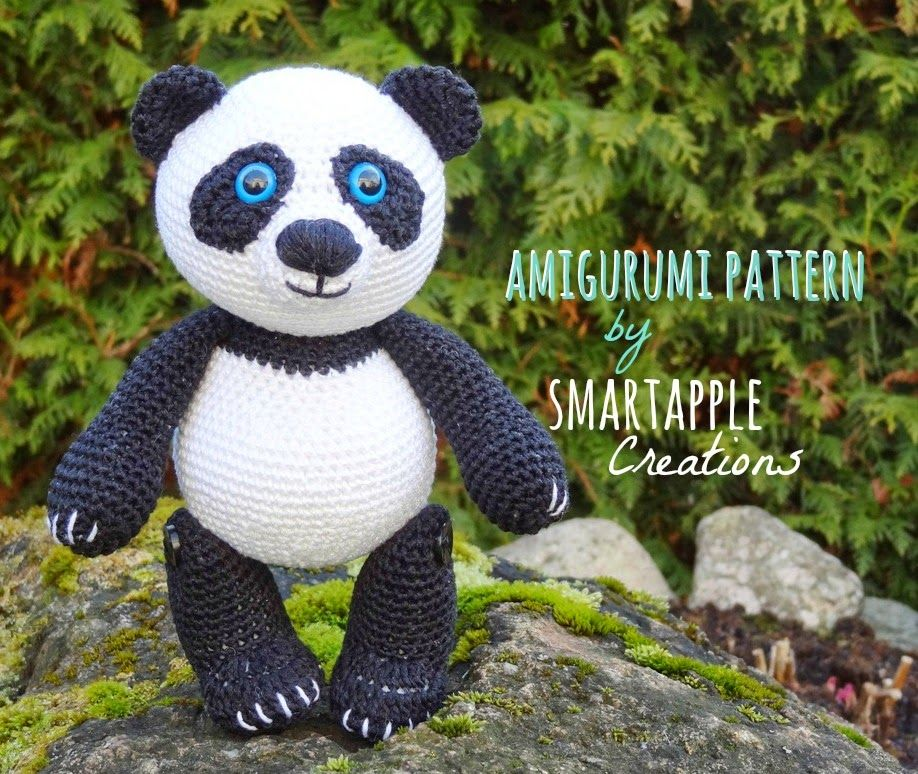 Crochet Panda Pattern Planetjune By June Gilbank Amigurumi Giant