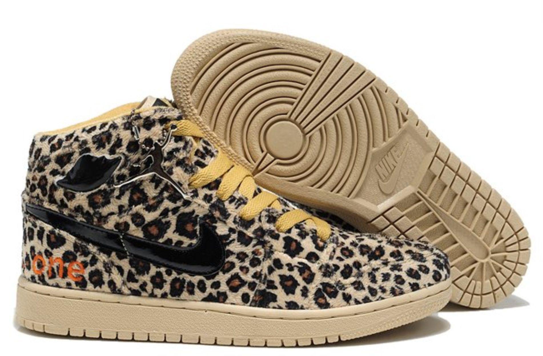 e9ce63cbb3c9 2012 Nike Air Jordan 1 I Leopard Olympics Mens Shoes Cheetah ...