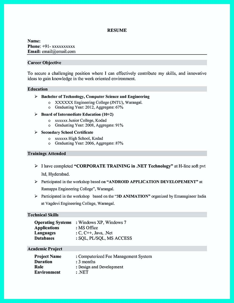 Cool The Perfect Computer Engineering Resume Sample To Get Job