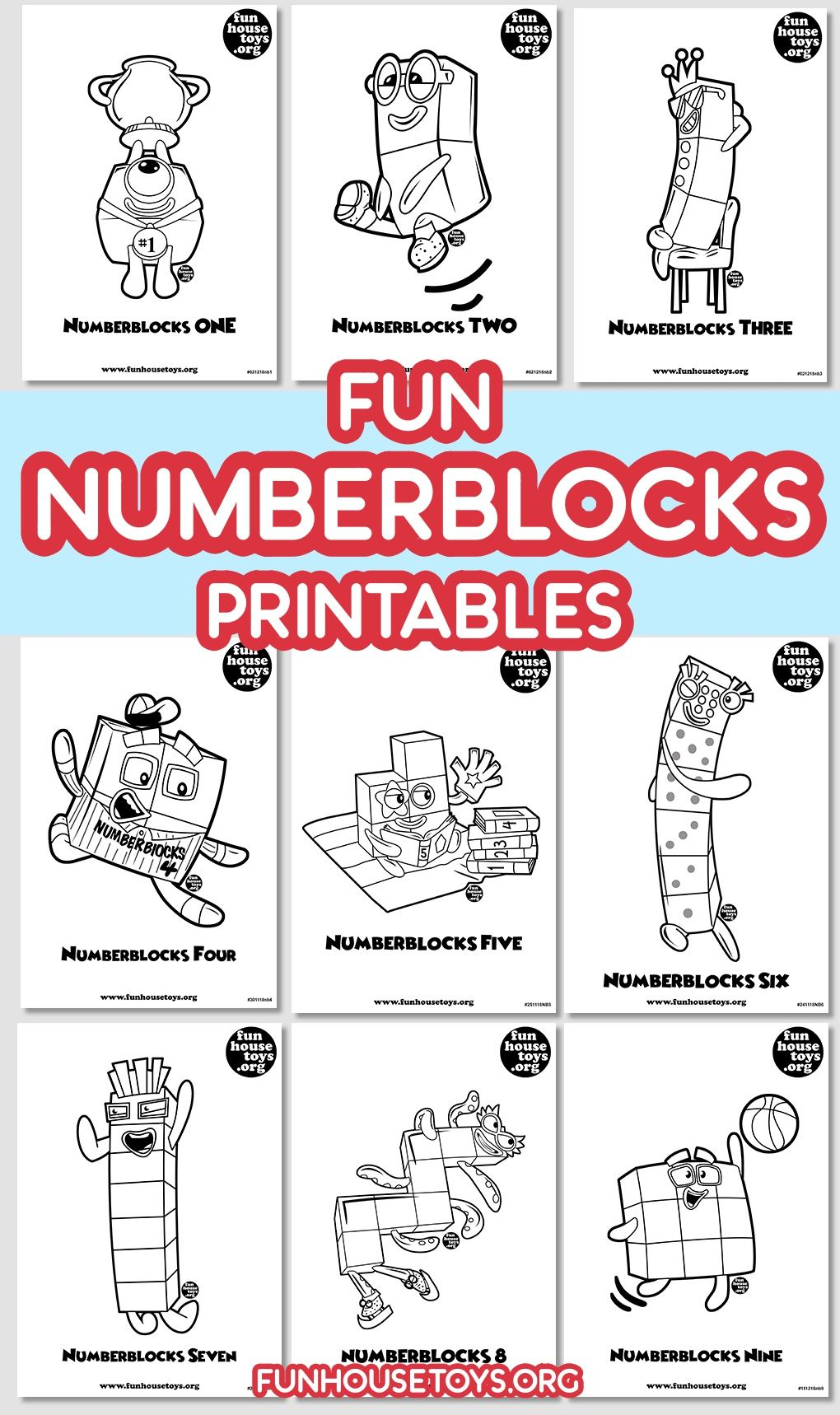 Fun Numberblocks Coloring Printables For Kids Fun Printables For Kids Coloring Pages For Kids Coloring Pages