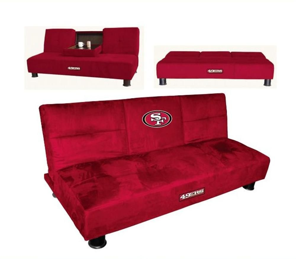 San Francisco 49ers Convertible Sofa With Tray Convertible Sofa 49ers Bedroom Ideas