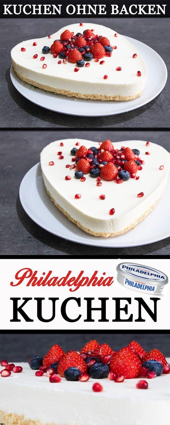 Philadelphia Kuchen Ohne Backen Kindergeburtstag Pinterest