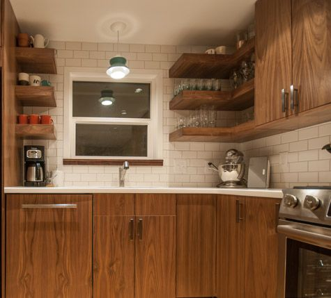 Walnut Vertical Grain Ikea Doors Custom Made For This Portland Oregon Ikea  Kitchen Cabinet Remodel.