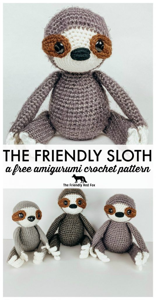 Free Crochet Sloth Amigurumi Pattern