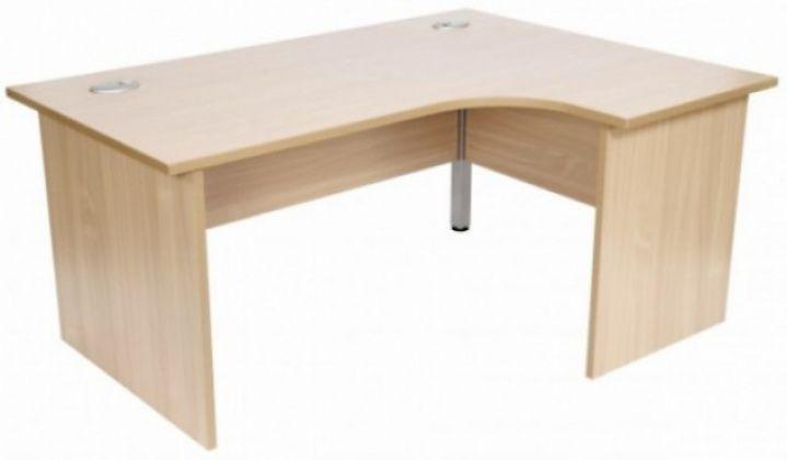 Light Oak Curved Cantilever Office Desk Curved Office Desk