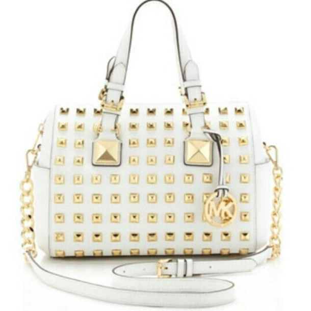 bag michael kors white gold purse