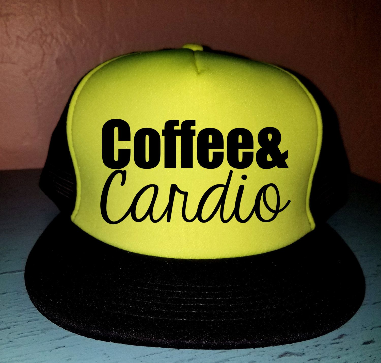 Coffee & Cardio Trucker Hat Snapback Hat Custom Trucker