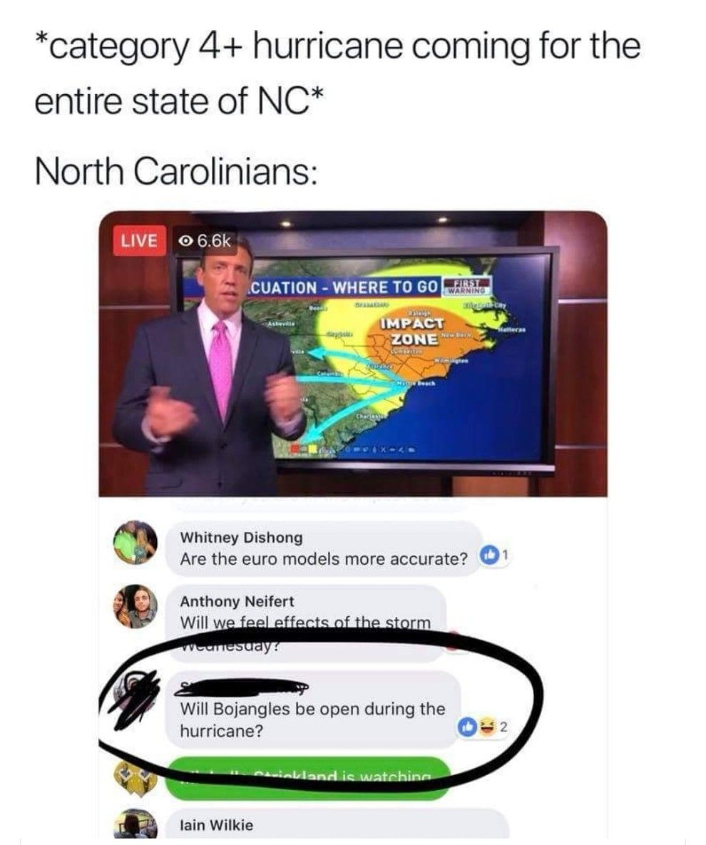 Here S Every Us State Described Perfectly By A Meme Southern Humor State Of Nc Hurricane Memes