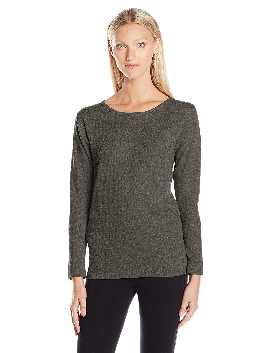 d1839622a047 Women's Mid Weight Wicking Thermal Shirt - Granite Heather - C012LOPX7GP, Women's Clothing, Active, Active Base Layers #women #fashion #clothing  #outfits ...