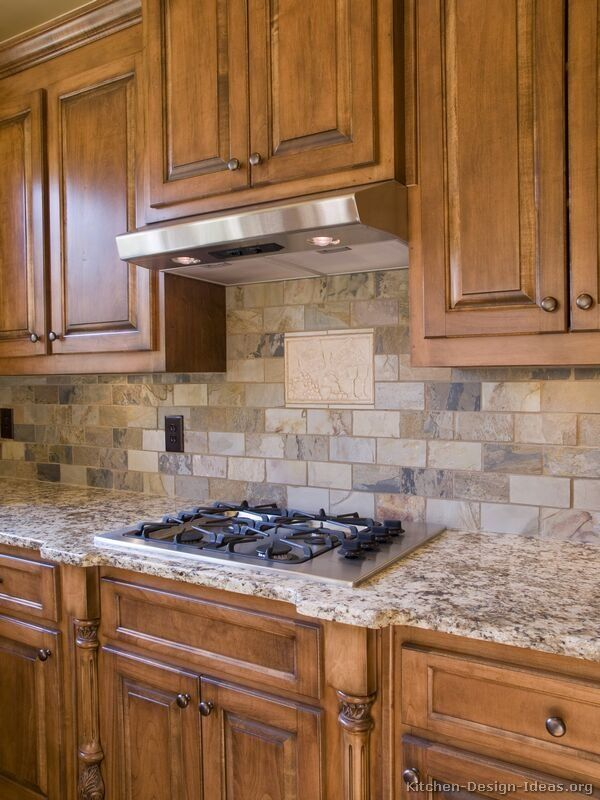 Kitchen of the day learn about kitchen backsplashes for Kitchen units made of bricks