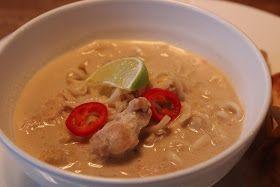 Cathrines matblogg: Asiatisk kyllingsuppe med nudler, ingefær og chili
