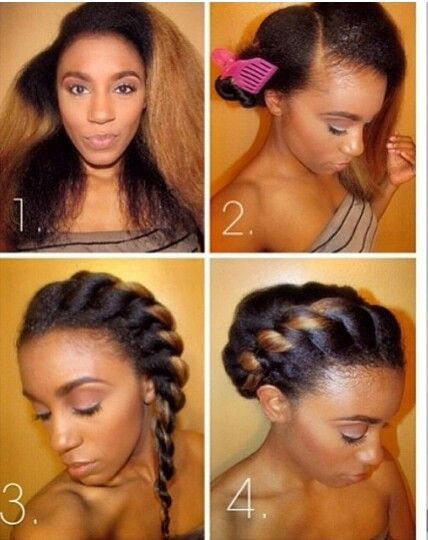 Protective style steps natural hair #protectivestyles